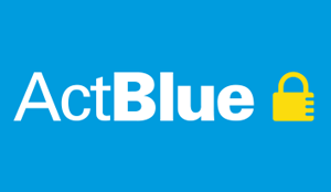 Button to donate with ActBlue